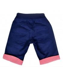 Denim Blue Turn-up Shorts