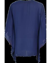 Blue Bat Wing Kaftan Inspired Blouse