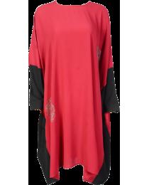 Red Embellished Kaftan Inspired Dress