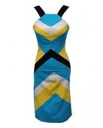 Multi Coloured Sleeveless Dress