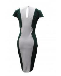 Jane Norman Green & White Symmetric Dress