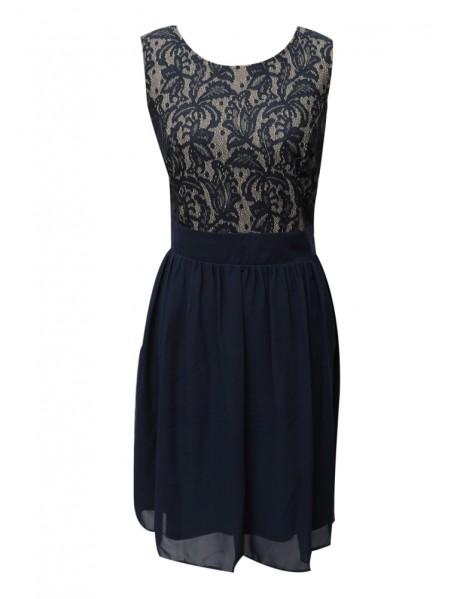 Lacey Blue Short Dress